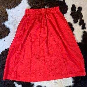 ASOS//Linen Mid Length Skirt